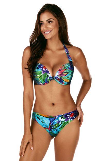Dvoudílné dámské plavky Avrora Push-Up barevná 38