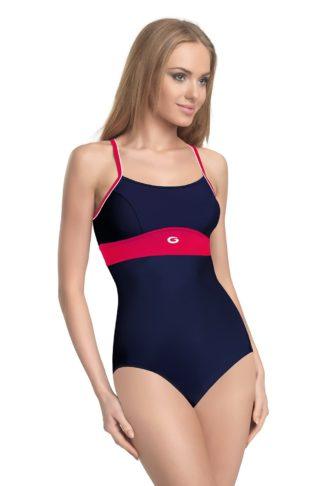 Dámské jednodílné plavky Roxi modročervená 36
