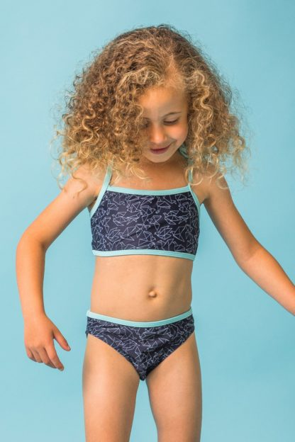Dívčí dvoudílné plavky Mia modrá 92