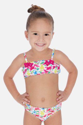Dívčí dvoudílné plavky Flowers